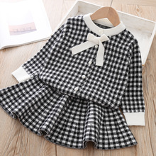 Baby Girls Dress Autumn Winter Children Clothes Soft Plaid Long Sleeve Princess Dresses for Girl Kids Party Dress Spring Wear цена