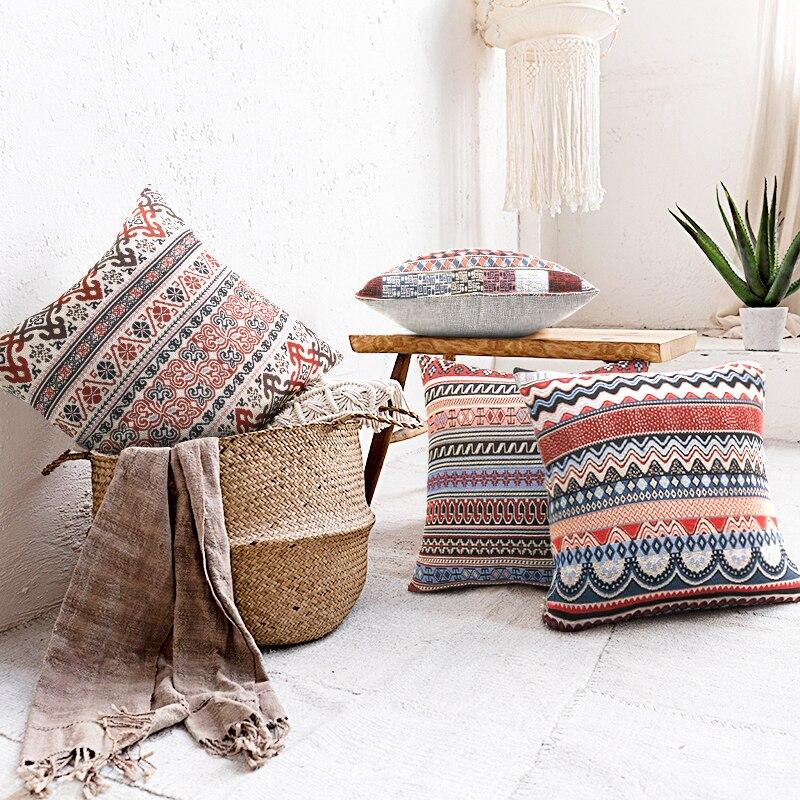 indian bohemian pillow cover sofa pillow decorative throw pillow embroidered pillow boho pillow vintage home patchwork pillow