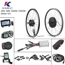 Комплект для переоборудования электрического велосипеда задний BLDC мотор для центрального движения колеса 36V/48V 500W 1000W 1500 Вт 26 дюймов мотор д...