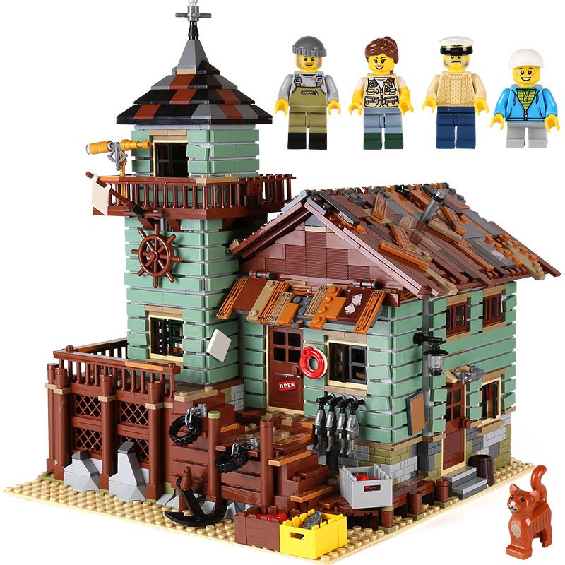 DHL 16050 2294Pcs MOC Series Compatible With 21310 Old Fishing Store Set Building Blocks Bricks Educational Kids Christmas Gifts