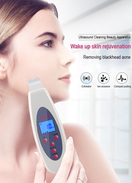 Ultrasonic Face Skin Scrubber Cleanser Face Cleansing Acne Removal Pore Peeling Tone Lift ultrasonic Clean Facial Massager