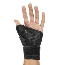 1pcs Steel Wrap Wrist Support Sport Thumb Splint Brace Hand Strain Sprains Protector Pain Relief