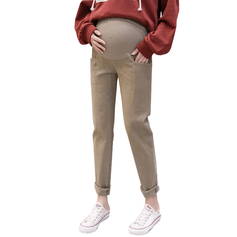 Loose Haren Pants Maternity Trousers For Pregnant Women Clothes Casual Stretch Cotton Trousers Pregnancy Pant Maternity Clothing