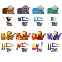 Super Heroes Iron Man MK36 MK27 MK30 MK31 MK21 MK42 MK50 Pepe MK1616 Building Blocks Figura Giocattoli(China)