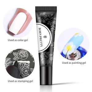 Image 5 - BORN PRETTY esmalte de Gel para uñas, laca de Gel para uñas, Color blanco y negro, 8ml
