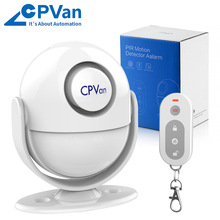 CPVAN Wireless Motion Sensor Alarm Infrared PIR Motion Detector Burglar Alarm System with Remote Control for Home Security waterproof outdoor pir infrared detector motion sensor for security home alarm system burglar alarm anti theft lx402