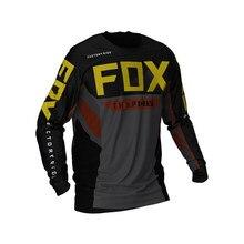 Mountain bike jersey, mountain bike downhill long-sleeved cross-country motorcycle sportswear, thxp fox, mtb 2021