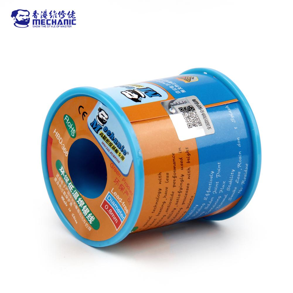 Iron 0 400g 0 0 Lead 0percent Cable  Core 0  Rosin Free 210  0 Wire Reel  1 6 4 Solder Point 0 8mm 5 3  MECHANIC Melting Welding 3 Flux