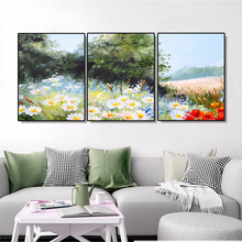 Laeacco Nordic Graffiti Flowers Wall Artwork Classic Garden Posters and Prints Paint On Canvas Painting Living Room Home Decor