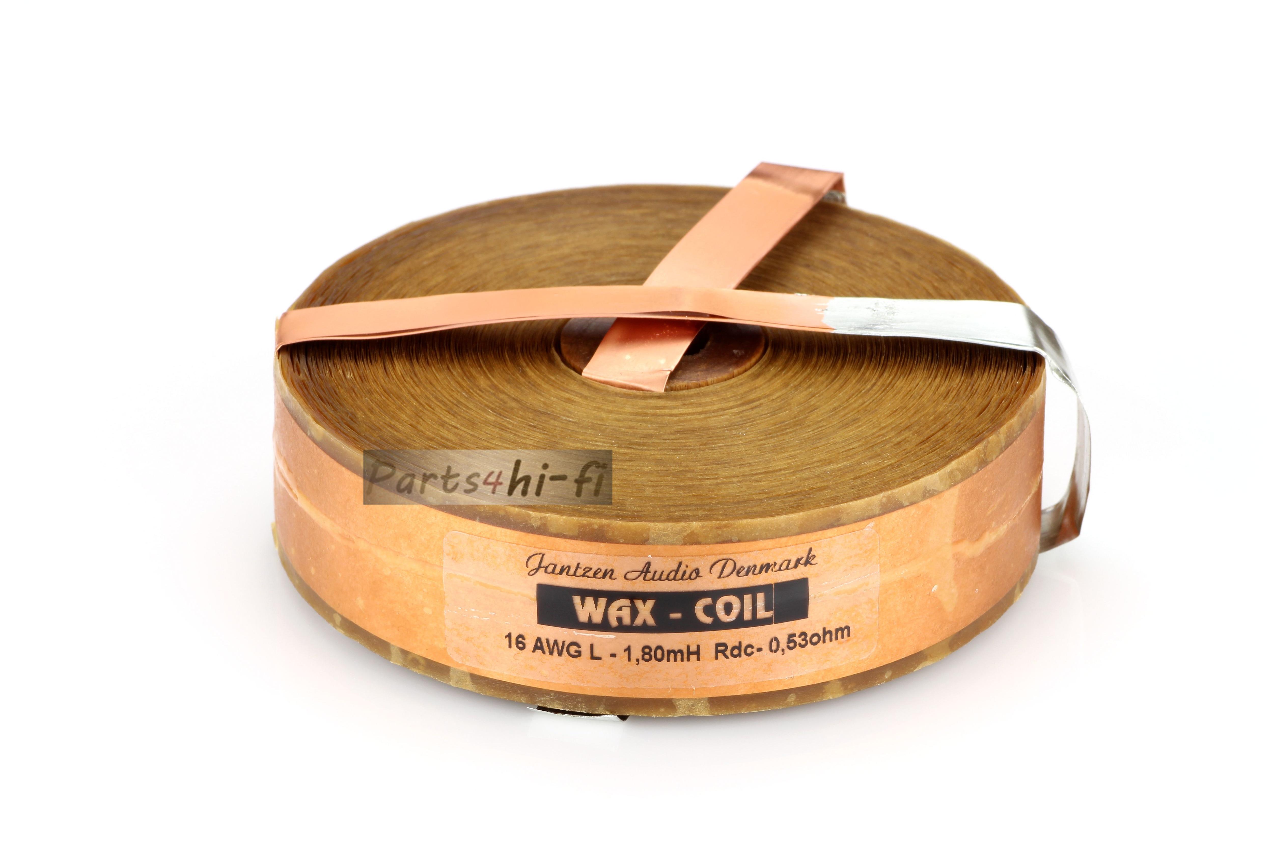 2pcs/lot Denmark Jantzen-audio WAX COIL Wax Copper Foil Inductor 16awg (1.3mm) Free Shipping