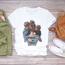 Kids Baby Girl Boys Casual Loves Mama 2021 Fashion Summer Female Tee Mother's Day Clothes Tshirt Mom With Son Mum T Shirt Tops