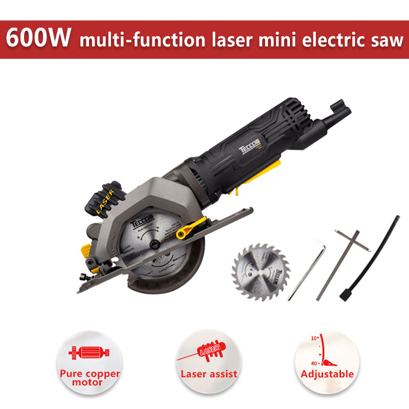 600W Electric Power Tool Electric Mini Circular Saw With Laser, DIY Multi-function Electric Saw For Cutting Wood,PVC Tube