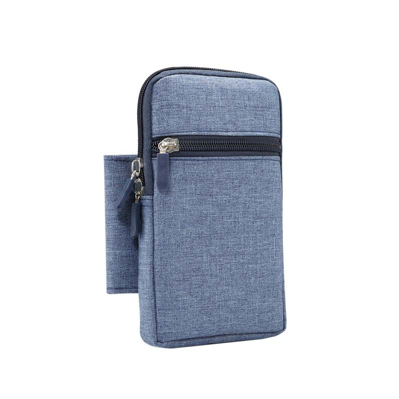 6.3 inch Universal Multi-function Single Denim Mobile Phone Case Phone Bag Waist Case Holster Bag Hanging Waist Portable KS0283