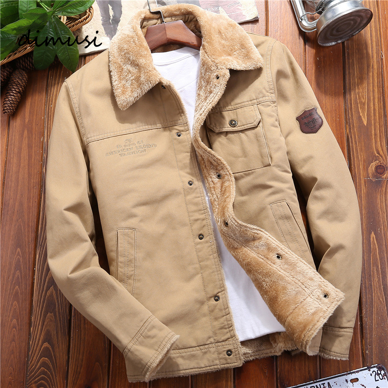DIMUSI Winter Mens Bomber Jackets Casual Man Fleece Thick Warm Windbreaker Jacket Mens Clothing Army Military Baseball Coats 5XL