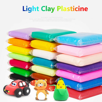 36 Colors Slime Super Light Clay with 3 Tools Air Drying Light Modelling Clay Handmade Educational  Toys Blue Clay new 24colors super light clay air drying soft polymer modelling clay with tool educational toy special diy plasticine slime toys