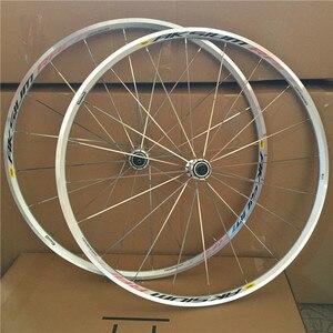 Серебряный 700C Aksium дорожный гоночный велосипед Колесная установка для скалолазания колеса