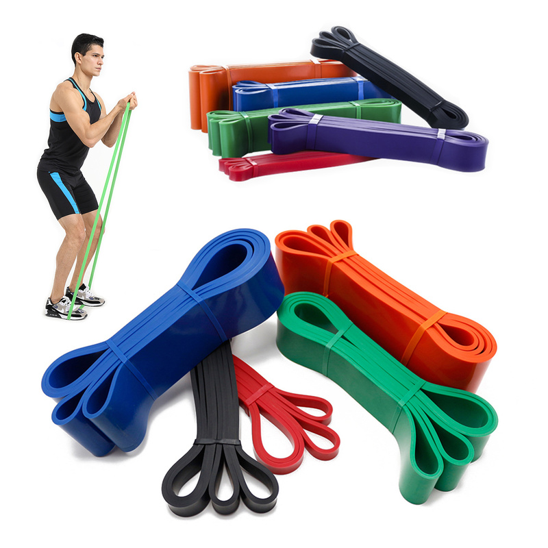 Unisex Fitness 208cm Rubber Resistance Bands Yoga Band Pilates Elastic Loop Crossfit Expander Strength Gym Exercise Equipment