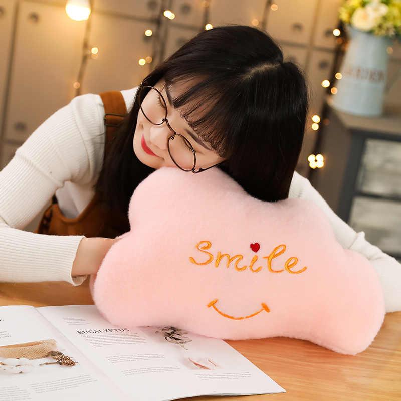 Neue Cloud-Crown Sterne Form Plüsch Weichen Sofa Kissen Warme Hand Kissen Plüsch Spielzeug Puppen Kinder Baby Kinder Mädchen Geburtstag geschenke