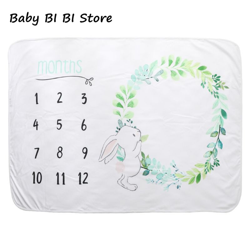 Monthly Baby Milestone Record Growth Blanket Newborn Photography Photo Background Cloth