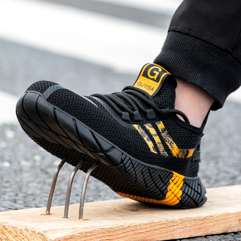 2020 New Breathable Men Safety Shoes Steel Toe  Non-Slip Work Boots Indestructible Shoes Puncture-Proof Work Sneakers Men 3