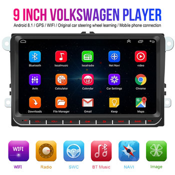 2 din Android 8.1 9 Auto Radio For Volkswagen VW golf 5 6 Car Multimedia Player Navigation Bluetooth FM Radio 2din Autoradio image