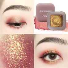 Novo Single Glitter Eyeshadow Powder Shimmer Matte Nude Eye Shadow Pallete Long