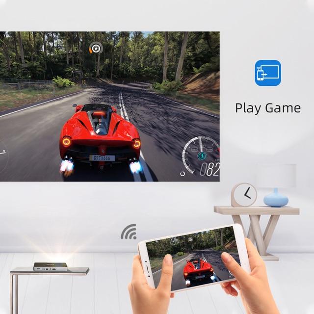 BYINTEK Mini Projector P10,Smart Wifi Pocket Pico Portable Beamer, LED DLP lAsEr Mobile Projector For Smartphone 4K 3D Cinema 1