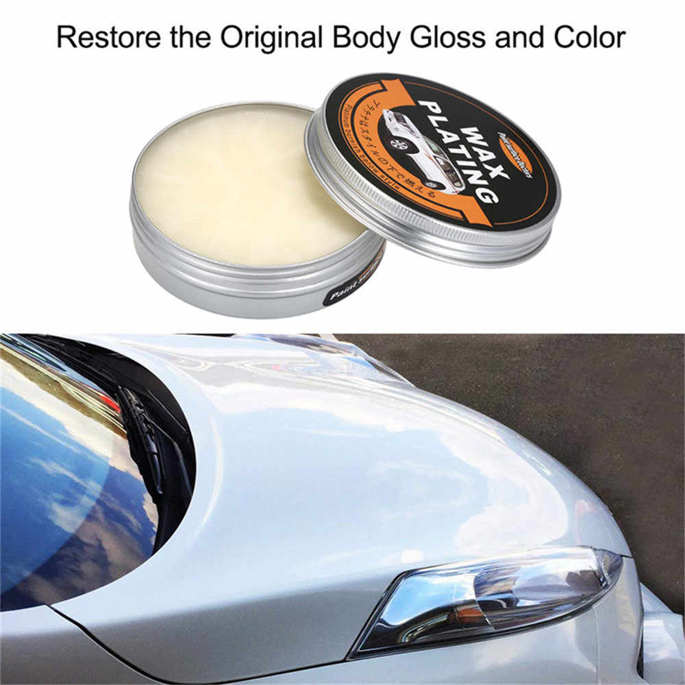 Chunmu Auto Wax Crystal Plating Set Hard Glossy Carnaubawas Paint Care Coating Kleine Kras Reparatie Onderhoud Met Spons