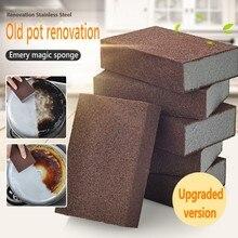 Esponja mágica esmeril para remoção, acessórios de cozinha, aparelho de algodão para limpeza de ferrugem
