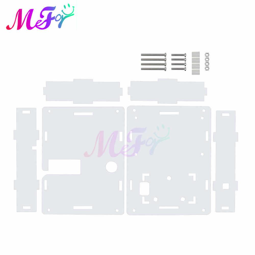 透明アクリルケースシェルハウジングLCR-T4 Mega328 M328トランジスタテスター静電容量、esr diyキット