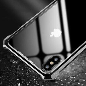 Image 4 - غطاء معدني فاخر لهاتف آيفون XS زجاج شفاف خلفي من الألومنيوم إطار معدني غطاء لهاتف آيفون XR 11 Pro Max غلاف رقيق نحيف