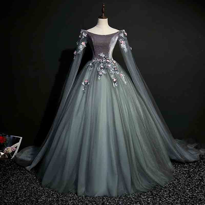 N grande taille 6xl robe de soirée de luxe gris foncé Renaissance victorienne robe Cosplay Costume de reine pour dame 4xl 5x