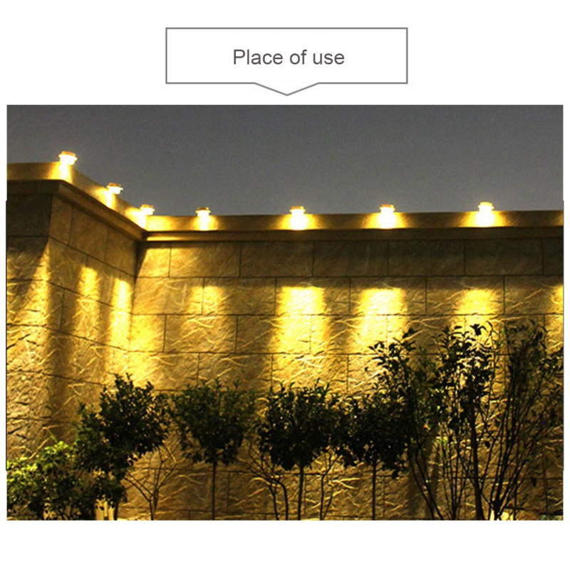 Led Sun Light Smart Solar Light Sun Power Gutter House Utilities Light Permanent For Garden Houses Fence Shed Walkway Nightlight