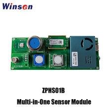 2pcs Winsen ZPHS01B Multi-in-One Sensor Module for CO2, PM2.5, CH2O, O3, CO, TVOC, NO2 Temperature, Humidity Detection UART