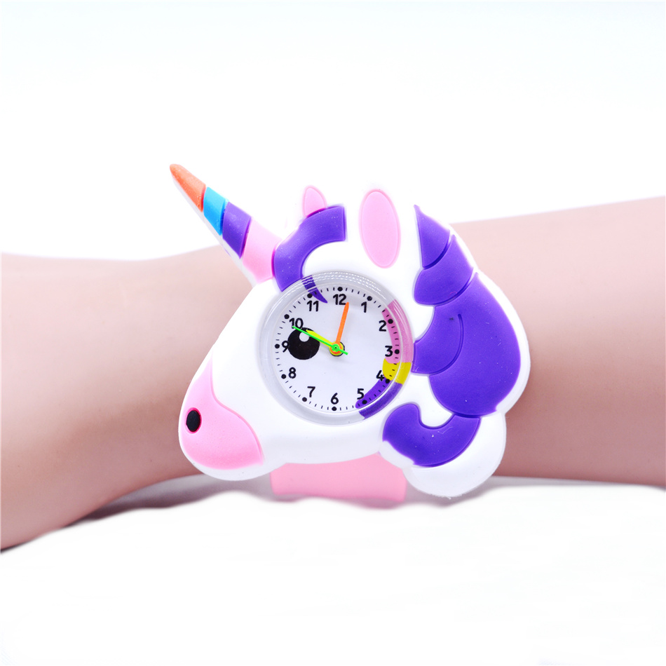 Baby Girl Watch Beautiful Unicorn Watches For Girls Boys Kids Plastic Clock Children Wristwatch Toy