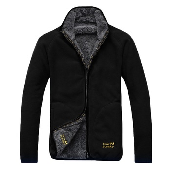 Winter Warm Polar Coral Fleece Men's Jacket Snowimage Windproof Thick Thermal Reversible Coat Male Plus Size Outerwear Clothes - discount item  40% OFF Coats & Jackets