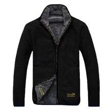 冬暖かい極性サンゴフリース男性のジャケットsnowimage防風厚い熱可逆コート男性プラスサイズのアウター服
