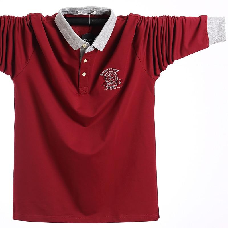 Купить осенняя мужская рубашка поло размера плюс 5xl l 2020 хлопковая