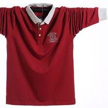 Осенняя мужская рубашка поло размера плюс 5xl l 2020 Хлопковая