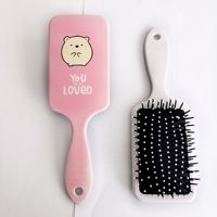 Women Hair Comb Paddle Hair Brush/Bird Hamster Pattern for Girls Hair Styling Antistatic for Straight Curly Hair Anti-Tangle 4