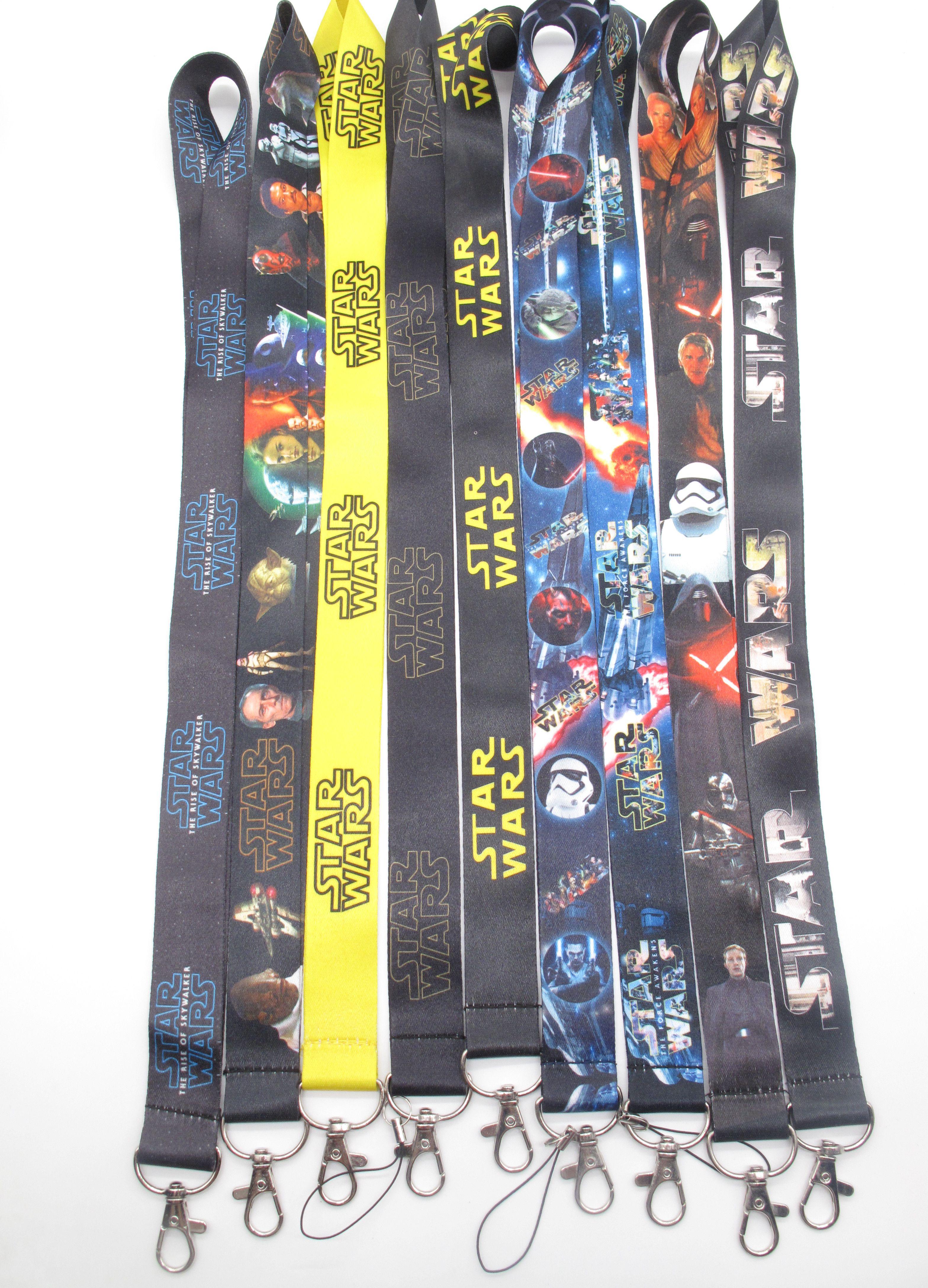 Lot Cartoon superman Lanyard Neck Strap ID Card badge holder key Chains Card