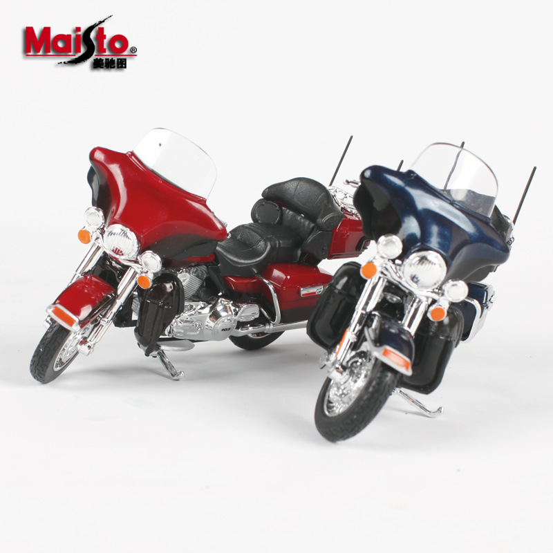 Maisto 1:18 Scale 53 Style Harley Motorcycle Bike Model Toy For Harley Moto 2009F XDFSE CVO FAT BOB 2016 BREAKOUT 2004 FXSTDSE