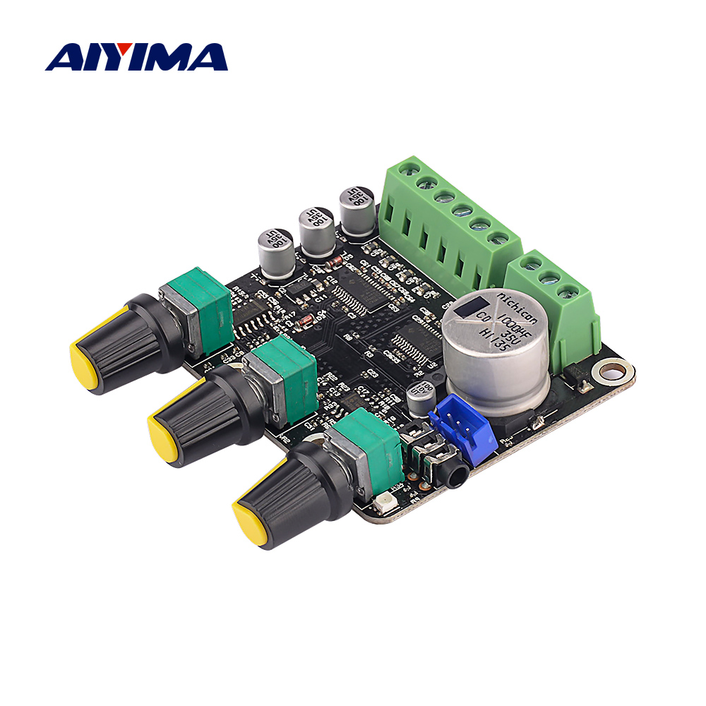 AIYIMA Bluetooth Amplificador 2.1 TPA3110D2 Subwoofer Amplifier Audio Board 15x2+30W Hifi Stereo NE5532 Amp For Computer Speaker