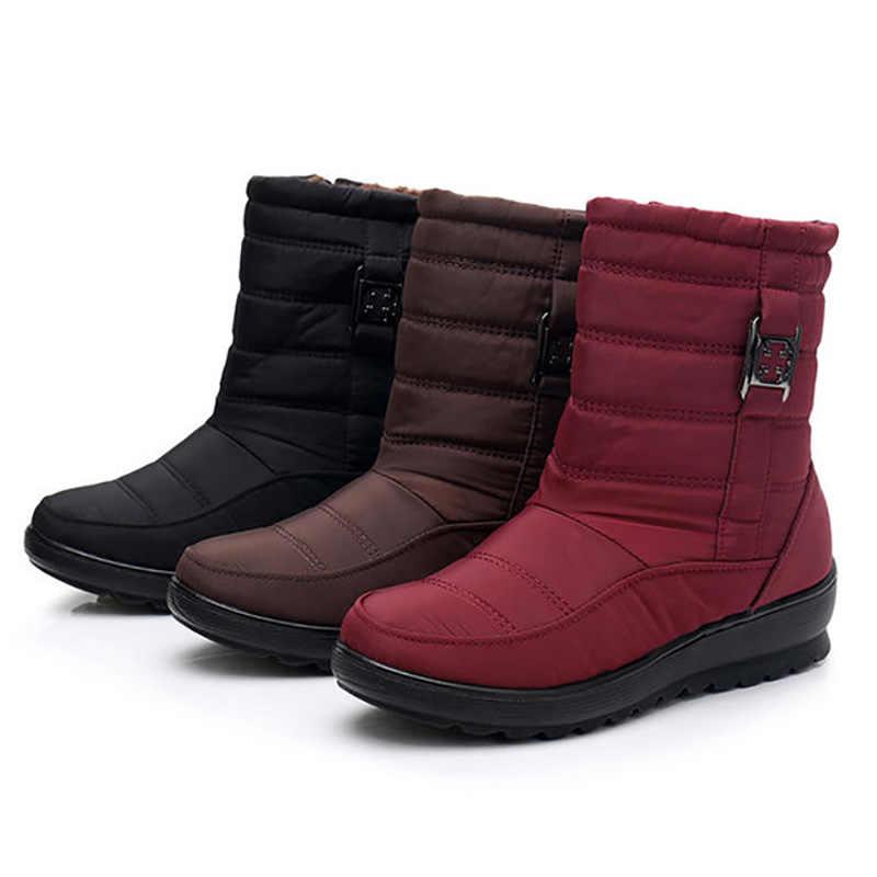 Kış çizmeler kadın yarım çizmeler kadın kış ayakkabı kadın kar botları kürk sıcak artı boyutu Botas kadın patik