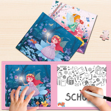 72PCS Puzzle Flower angel magnetic puzzle Children Jigsaw Puzzles Kids Preschool Educational Jigsaw Toy Baby Christmas Gifts