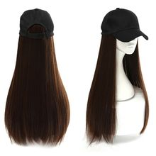 Women Long Straight Wigs Synthetic Hair Extensions with Base