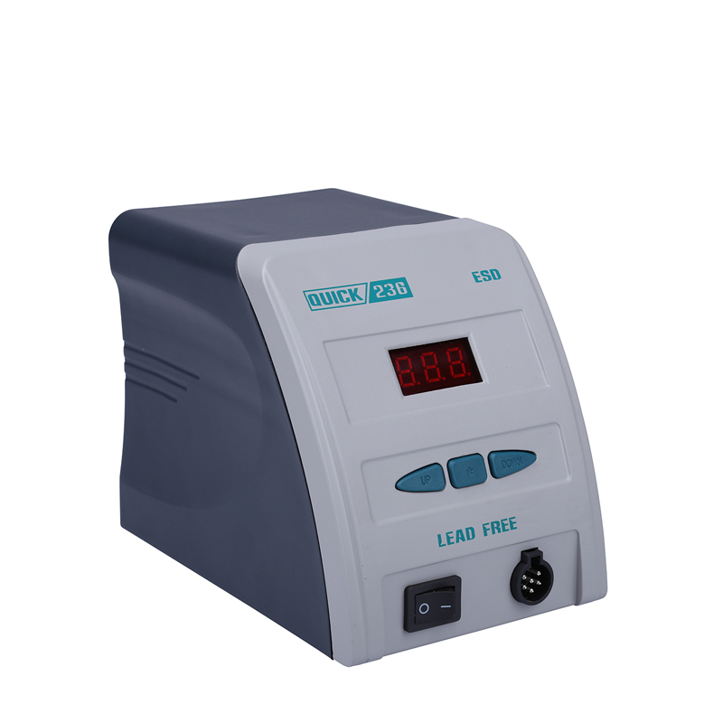 <font><b>QUICK</b></font> <font><b>236</b></font> Original antistatic <font><b>ESD</b></font> fast gram display lead-free welding iron 90w display specification soldering station image