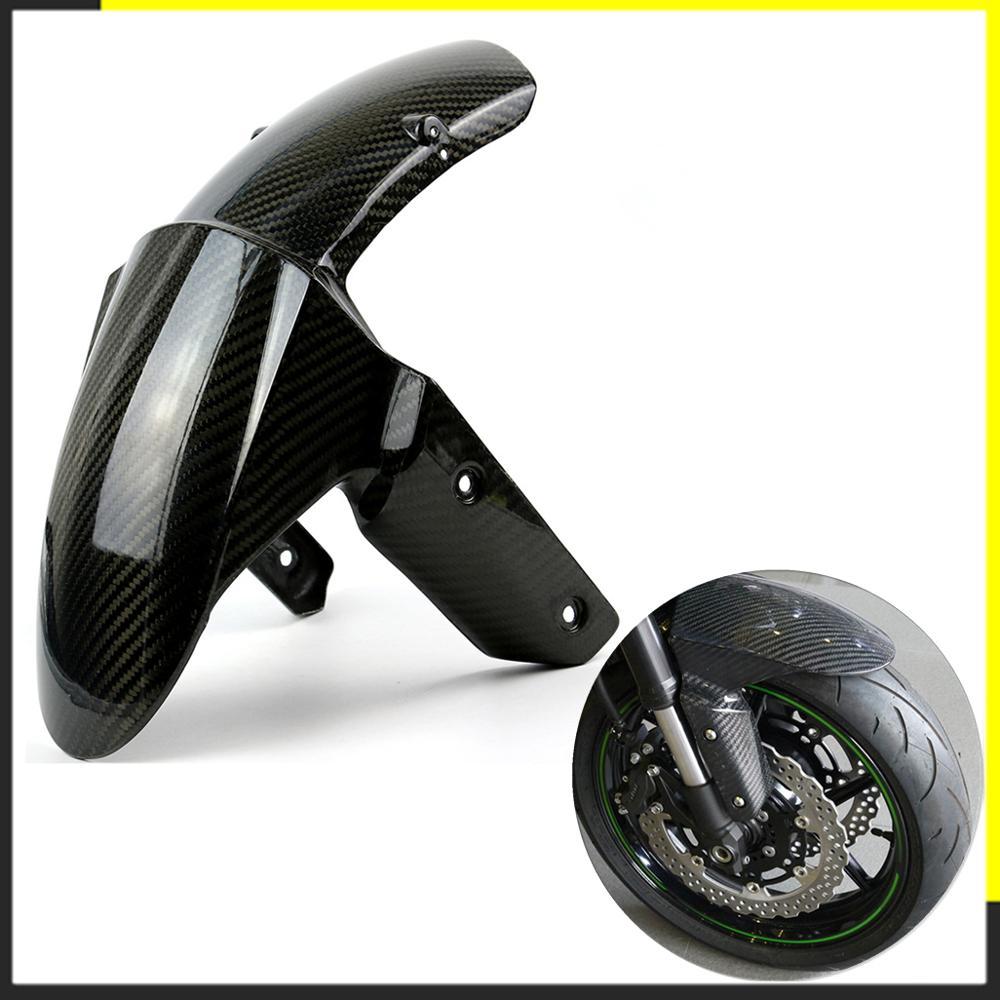 Motorcycle Carbon Fiber Front Fender For Kawasaki Z800 Z1000 2014 2015 2016 2017 Splash Mud Dust Guard Mudguard Cover Hugger