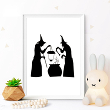 Halloween Wall Sticker Home Decoration Decal Decor Two wizard Party Kids Fun Living Room wall stickers WL113
