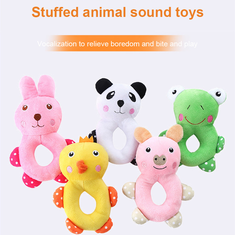 Baby's Animal Plush Toys With Holes Hand Puppet Doll Kids Toddler's Stuff Animals Portable Interactive Toys Gifts Pet Supplies